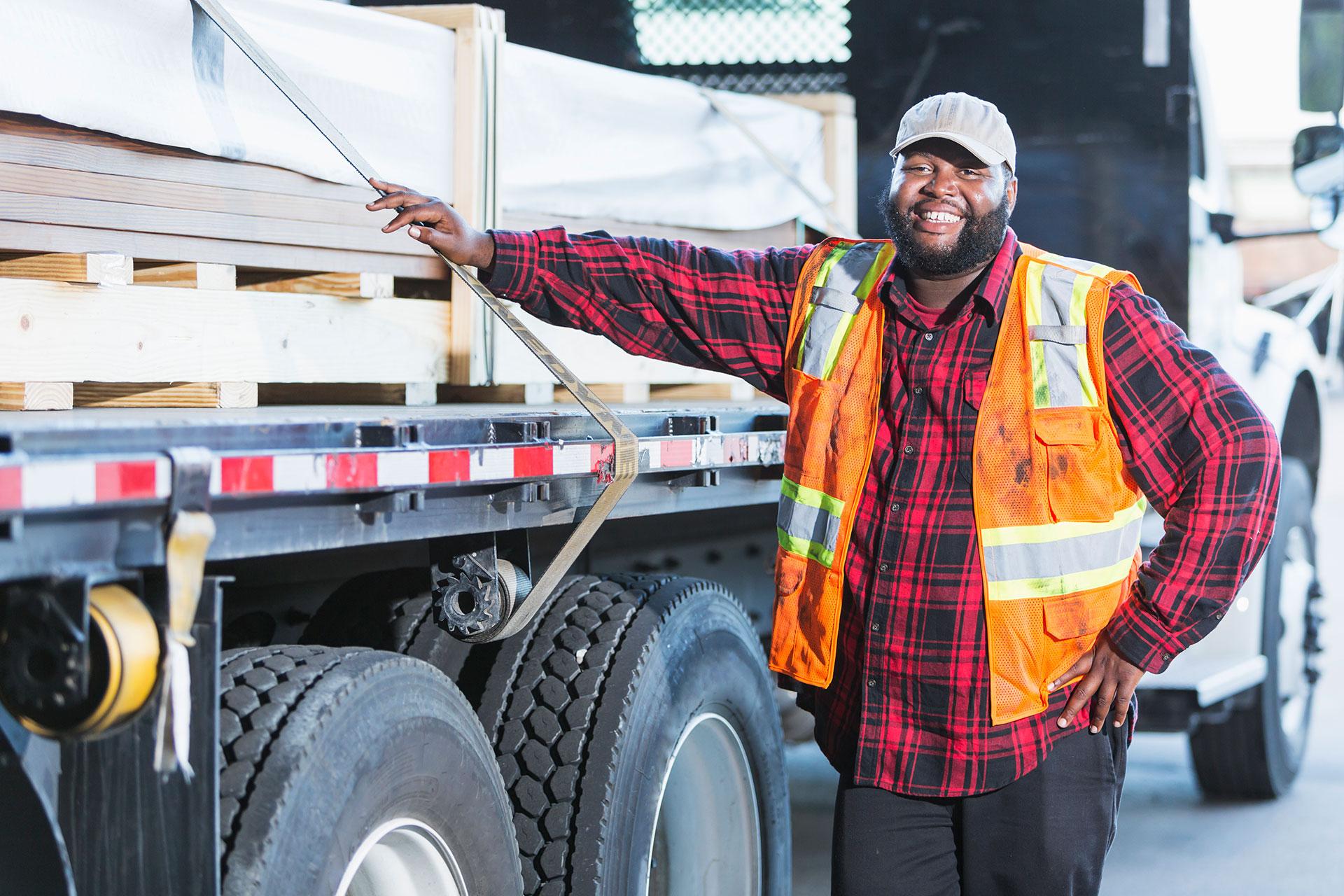 truck driver smile